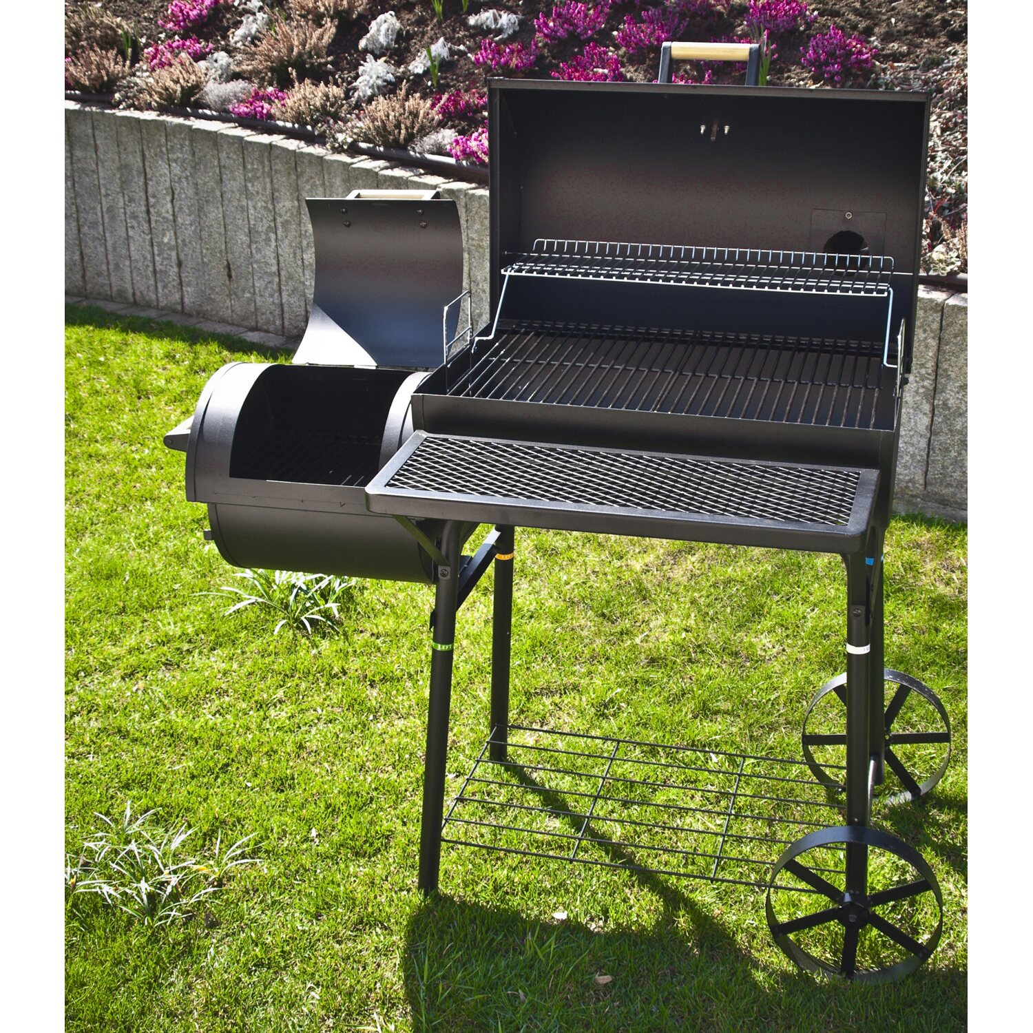 el fuego holzkohlegrill smoker dakota mit zwei grillfl chen kaufen bei obi. Black Bedroom Furniture Sets. Home Design Ideas