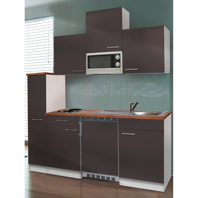 respekta k chenzeile kb180wgmi 180 cm grau wei kaufen bei obi. Black Bedroom Furniture Sets. Home Design Ideas