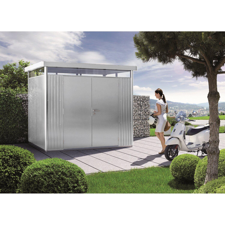 Hervorragend Biohort Gerätehaus HighLine Größe H2 Silber-Metallic mit Doppeltür  EI55