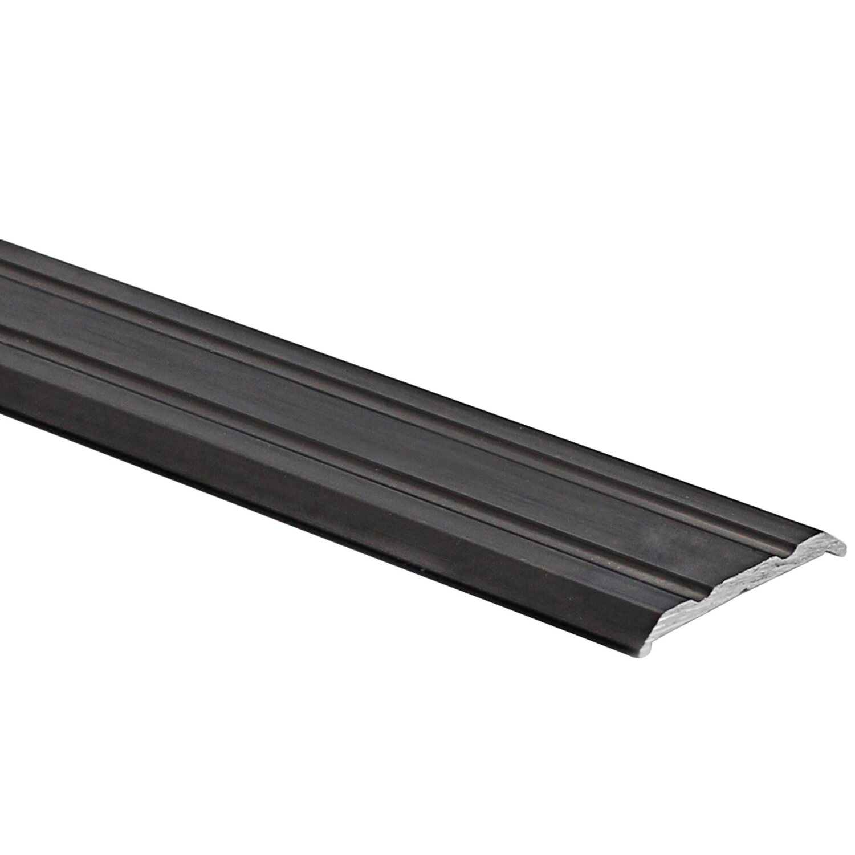 Arcansas Übergangsprofil Piattoal Alu elox. Schwarz gebürstet 25 mm x 0,9 m selbstklebend