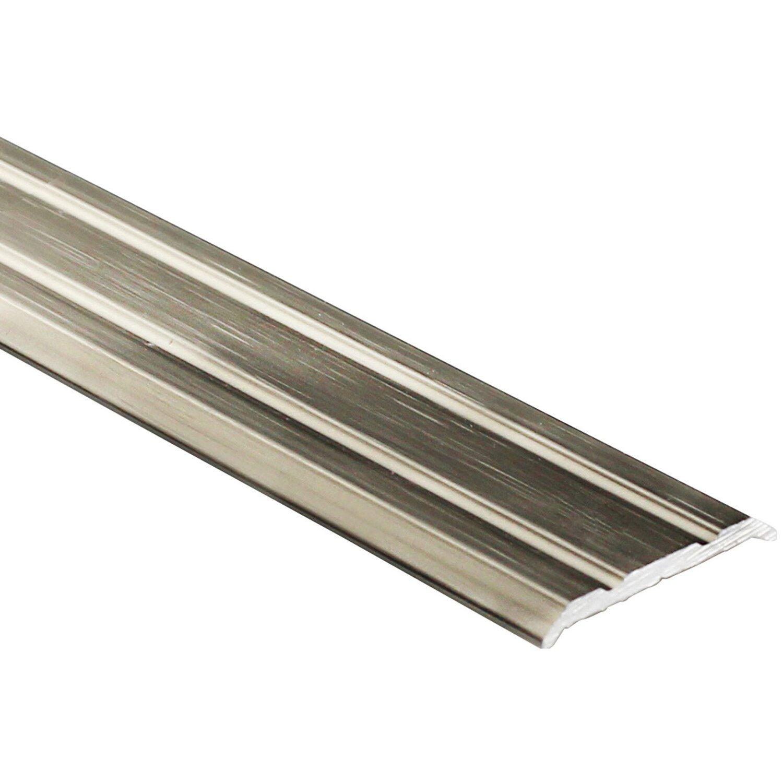 Arcansas Übergangsprofil Piattoal Alu elox. Titan gebürstet 25 mm x 0,9 m selbstklebend