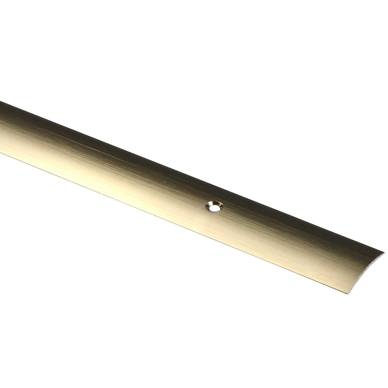Arcansas Übergangsprofil Semial Alu elox. Titan gebürstet 25 mm x 0,9 m