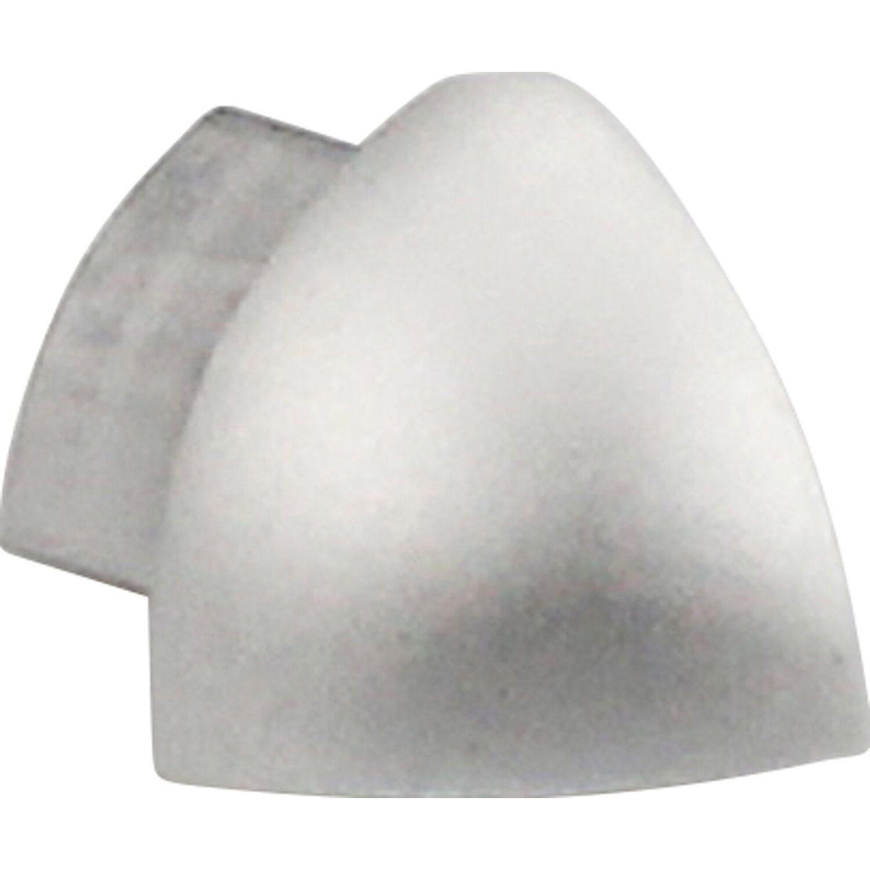 Arcansas Außenecke Viertelkreis-Abschlussprofil Alu eloxiert Silber glänzend 10 mm