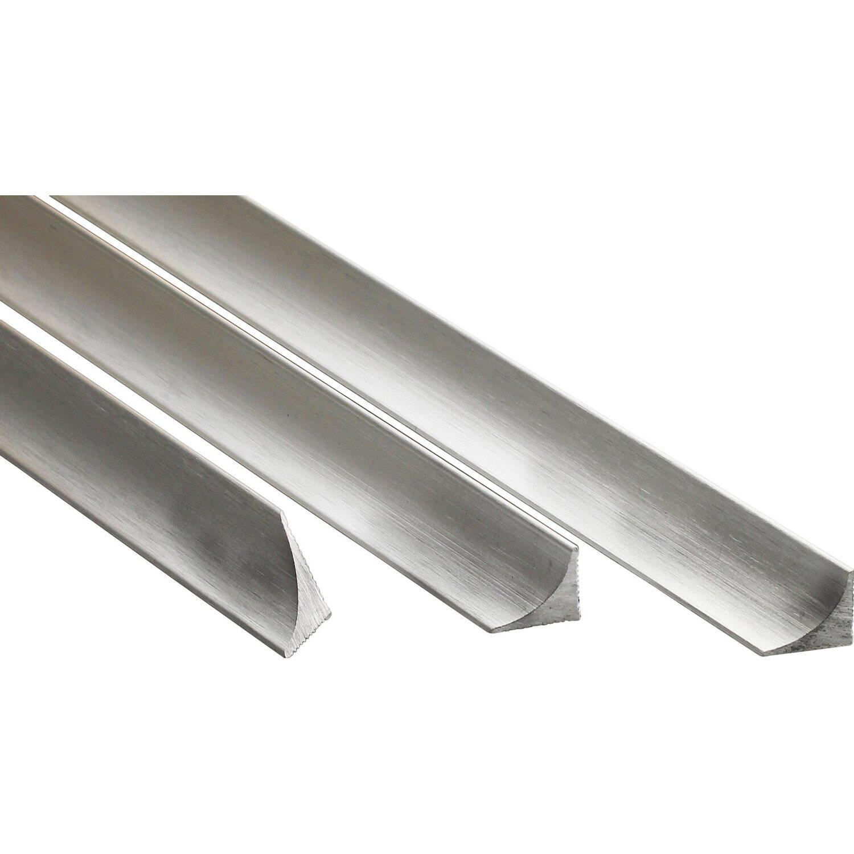 Arcansas Eckfuge Alu eloxiert Silber gebürstet 15 mm x 2,5 m