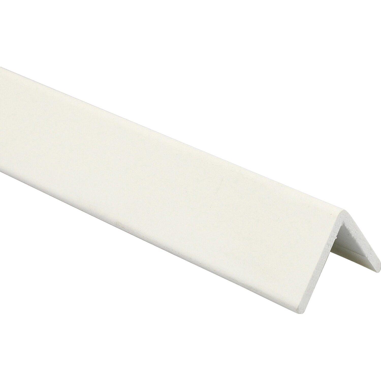 Arcansas Kantenschutzprofil PVC foliert Weiß matt 25 mm x 2,6 m