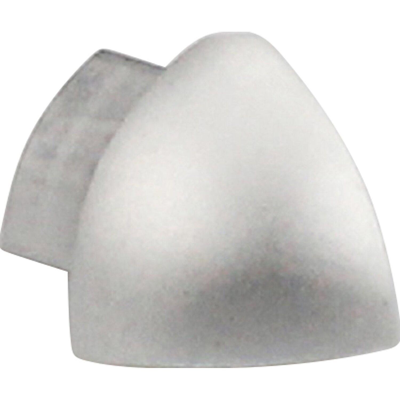 Arcansas Außenecke Viertelkreis-Abschlussprofil Alu eloxiert Silber matt 10 mm