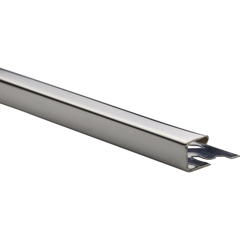 Arcansas Ecke Quadrat-Abschlussprofil Edelstahl poliert 10 mm