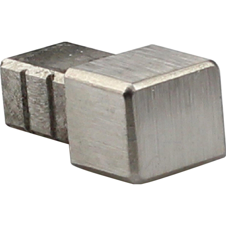 Arcansas Ecke Quadrat-Abschlussprofil Edelstahl gebürstet 10 mm