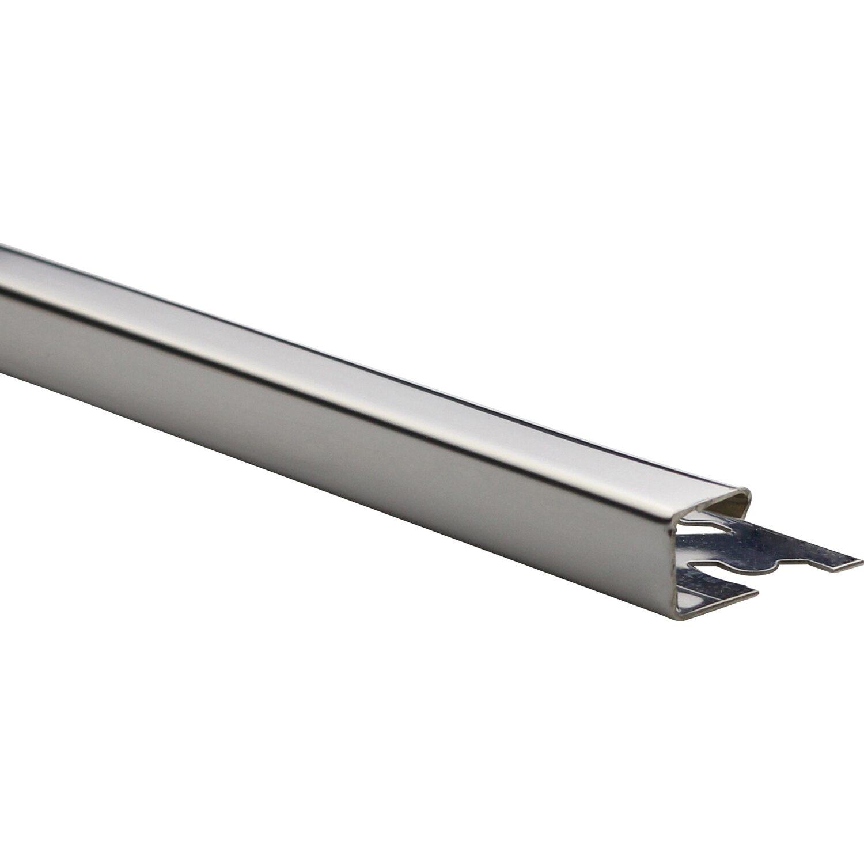 Arcansas Ecke Quadrat-Abschlussprofil Edelstahl poliert 12,5 mm