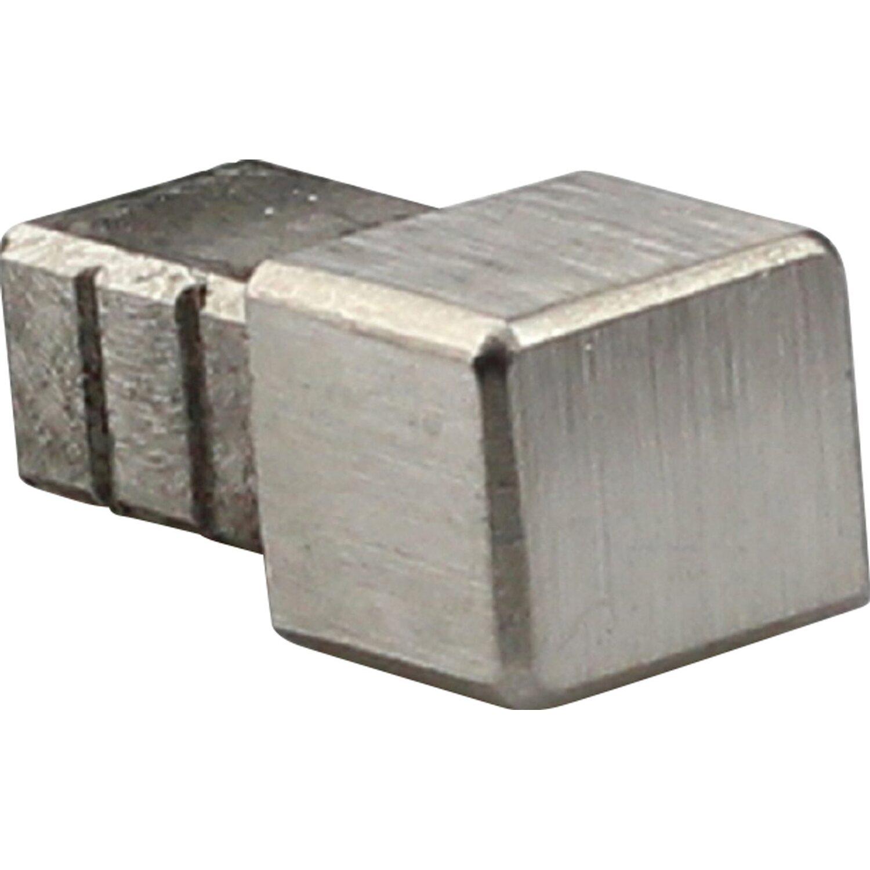 Arcansas Ecke Quadrat-Abschlussprofil Edelstahl gebürstet 12,5 mm