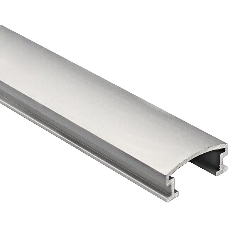 Arcansas Dekoprofil Alu eloxiert Silber matt 25 mm x 2,7 m