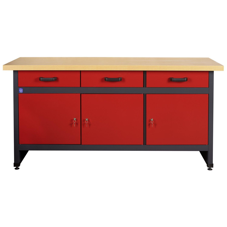 lux werkbank 3 t rig 3 schubladen 170 cm breit kaufen bei obi. Black Bedroom Furniture Sets. Home Design Ideas