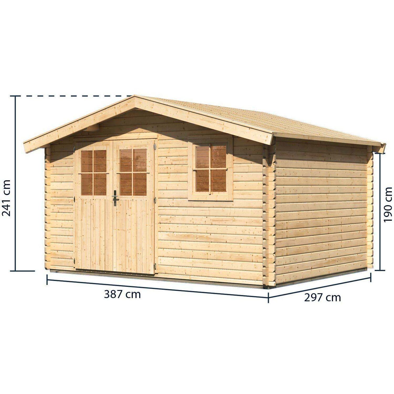 holz gartenhaus arosa 5 natur 372 cm x 282 cm kaufen bei obi. Black Bedroom Furniture Sets. Home Design Ideas