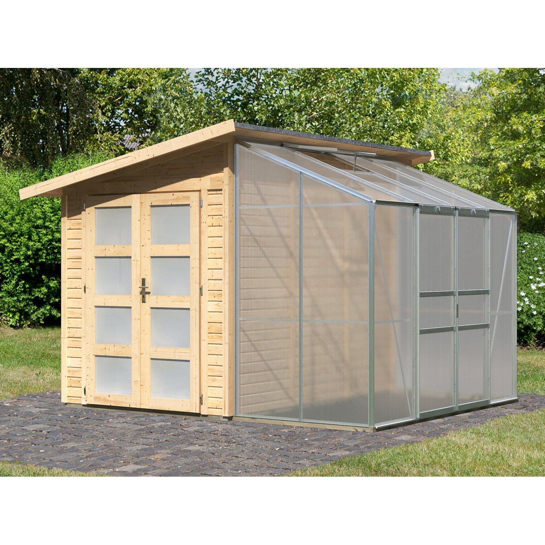 kombi garten gew chshaus fjell 2 310 cm x 268 cm kaufen bei obi. Black Bedroom Furniture Sets. Home Design Ideas