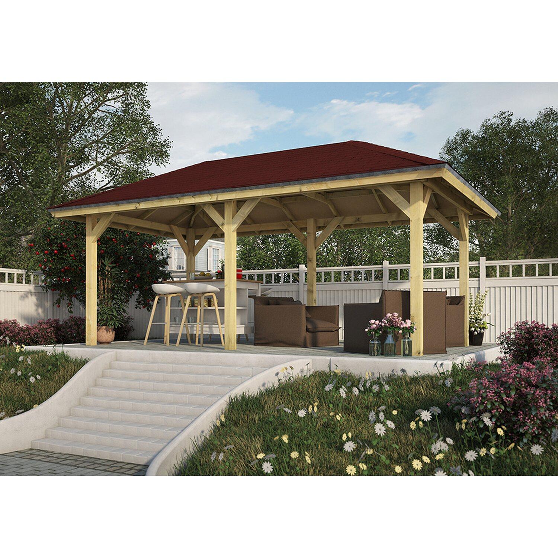 karibu holz pavillon varberg 2 impr gniert 517 cm x 265 cm kaufen bei obi. Black Bedroom Furniture Sets. Home Design Ideas