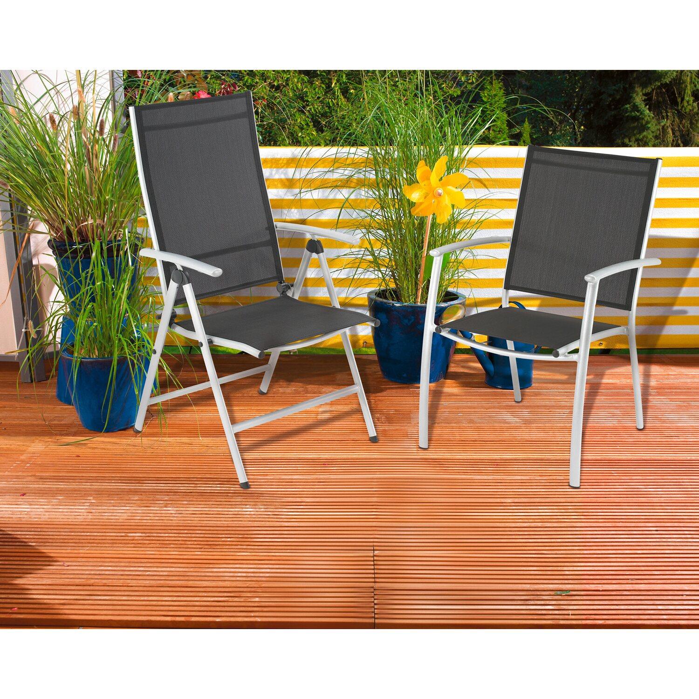 cmi stapelstuhl aluminium textilen kaufen bei obi. Black Bedroom Furniture Sets. Home Design Ideas