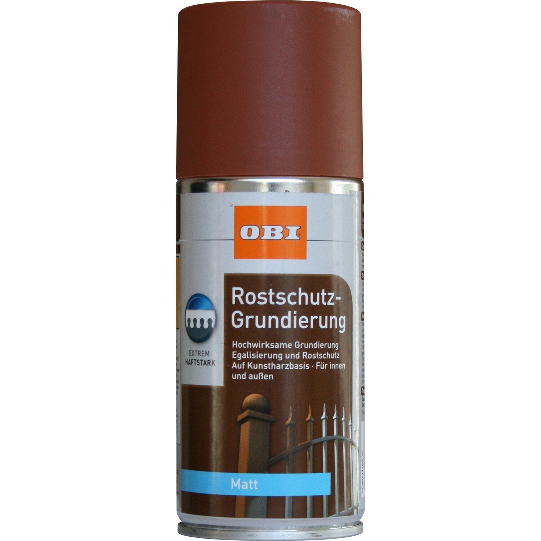 OBI Rostschutz-Grundierung Spray Rotbraun seidenmatt 150 ml