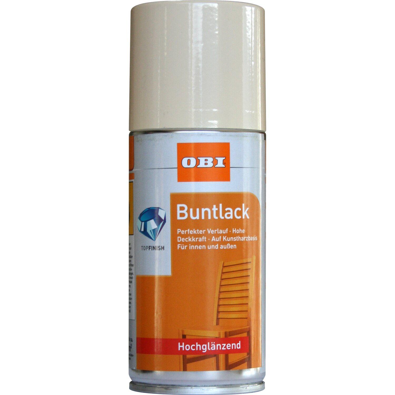 OBI  Buntlack Spray Hellelfenbein hochglänzend 150 ml