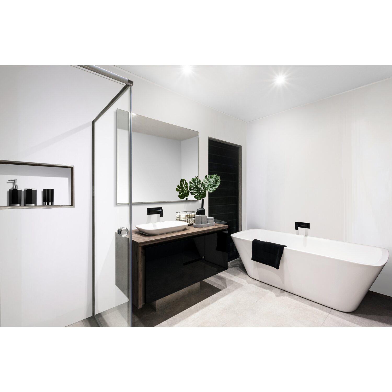 B x H wandmotiv24 K/üchenr/ückwand Schwarze Wand 160 x 50cm Acrylglas 4mm Nischenr/ückwand Spritzschutz Fliesenspiegel-Ersatz M0788