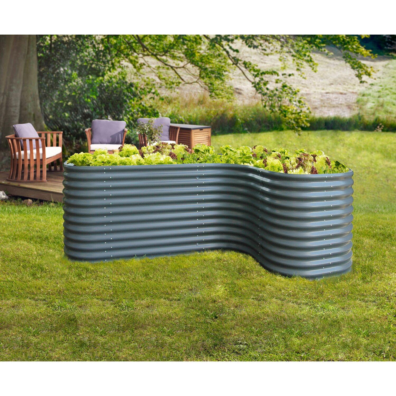 erweiterung curve f r hochbeet basic dunkelgrau kaufen bei obi. Black Bedroom Furniture Sets. Home Design Ideas