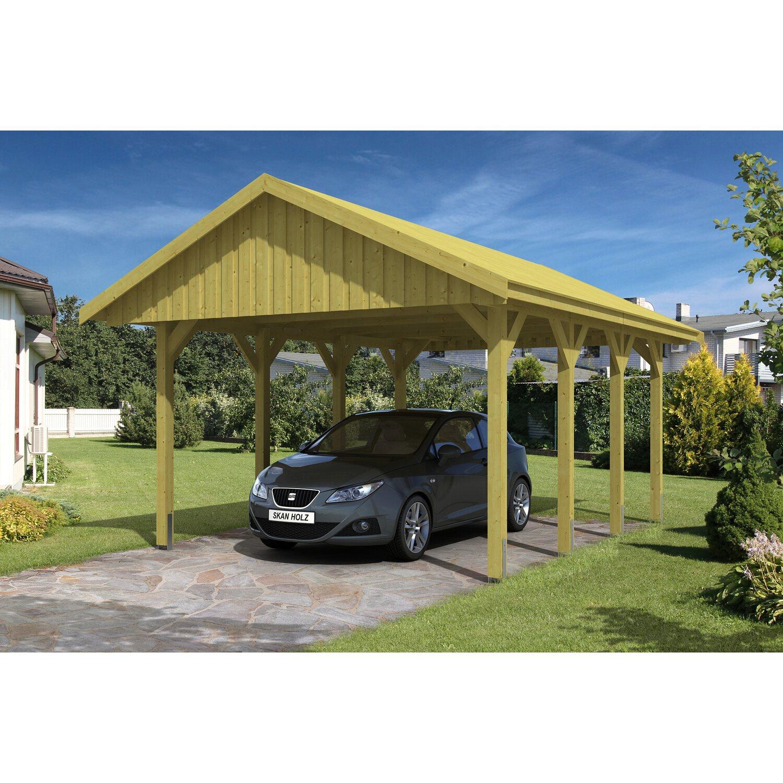 Skan Holz Satteldach-Carport Sauerland 430 cm x 600 cm Dachschalung Preisvergleich