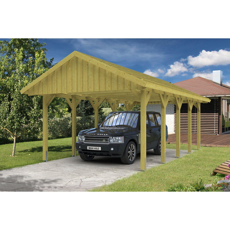 Skan Holz Satteldach-Einzelcarport Sauerland BxT 430 cm x 750 cm mit Dachlattung Preisvergleich