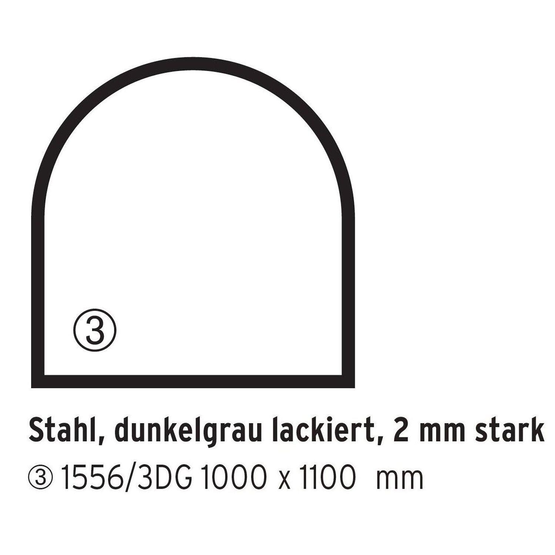 Firefix  Stahlbodenplatte Dunkelgrau