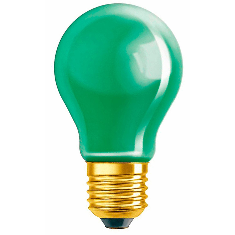 Osram Standard-Lampe Glühlampenform E27 / 11 W (10 lm) Grün EEK: E