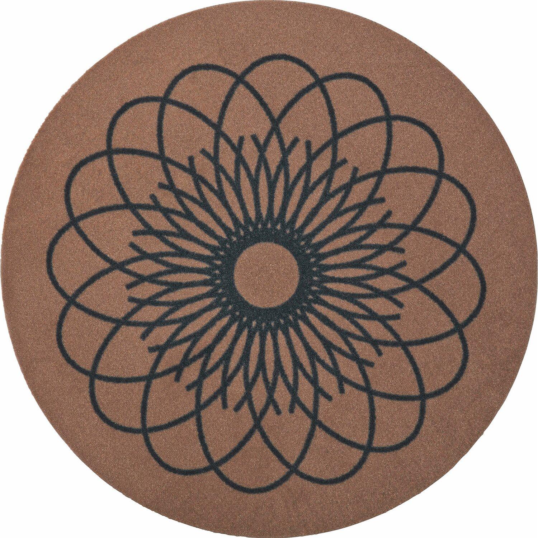 raffi my home teppichmatte ray round sand 66 cm x 66 cm kaufen bei obi. Black Bedroom Furniture Sets. Home Design Ideas