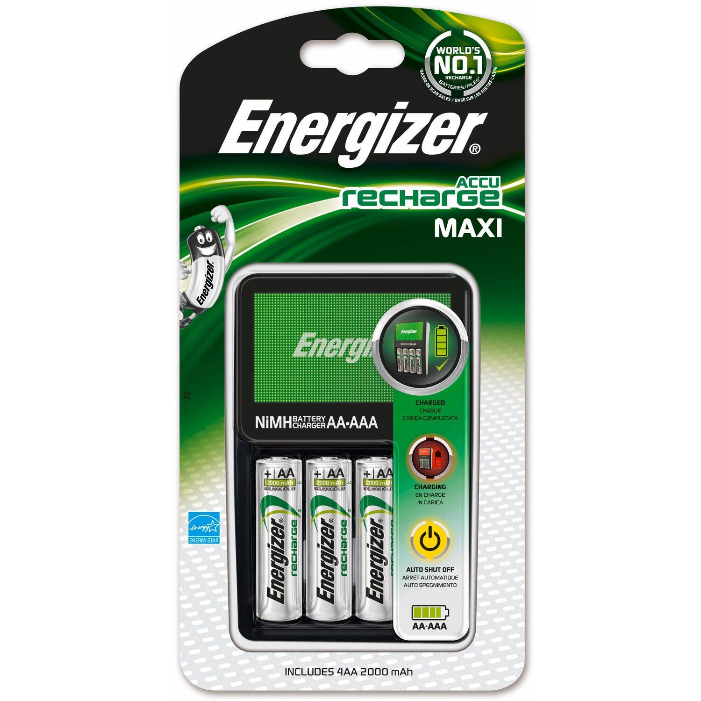 Energizer  Accu Recharge Maxi inkl. 4 x AA 2000mAh Akkus