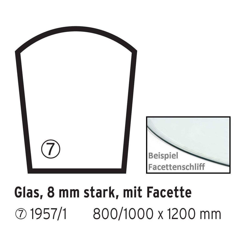 Firefix  Glasbodenplatte Trapez