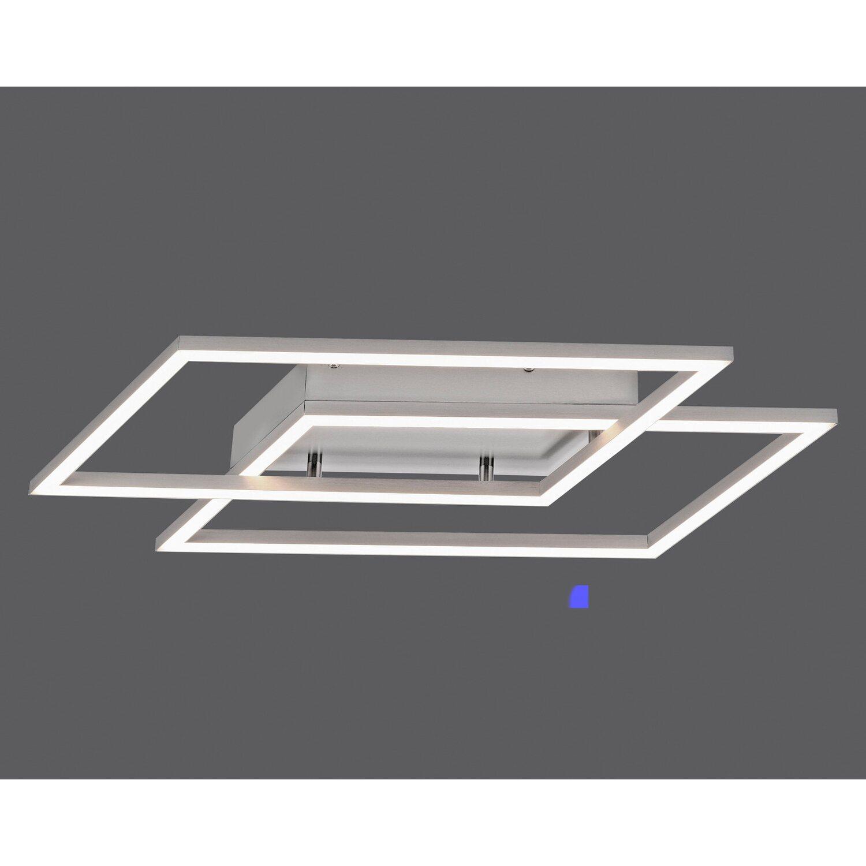 Paul Neuhaus LED Deckenleuchte Inigo Stahl 2 flammig 53,8 cm x 24,2 cm EEK: A+
