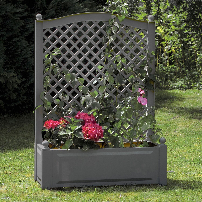 Blumenkasten Mit Rankgitter Kunststoff
