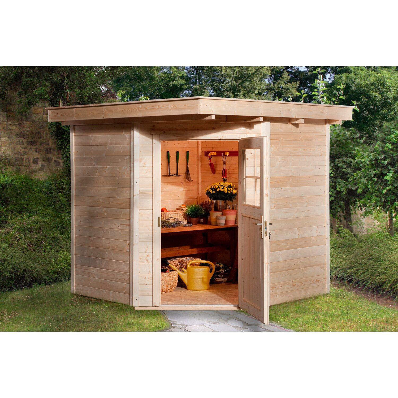 rabatt weka holz gartenhaus angolo a natur 209 cm x 205 cm. Black Bedroom Furniture Sets. Home Design Ideas