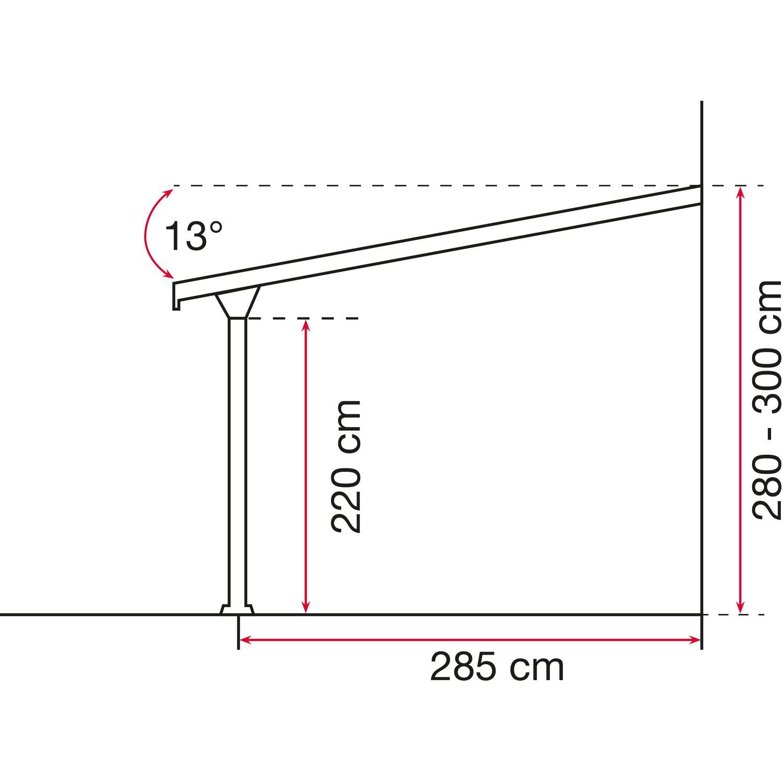 terrassen berdachung bausatz bxt 546 cm x 306 cm wei kaufen bei obi. Black Bedroom Furniture Sets. Home Design Ideas