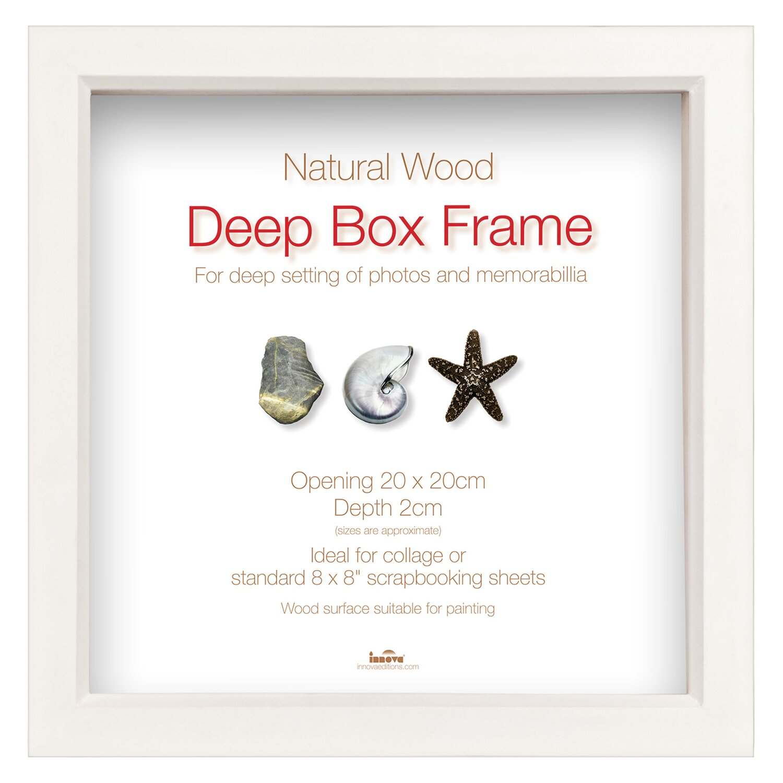 Holz-Bilderrahmen Deep Box Weiß 20 cm x 20 cm kaufen bei OBI