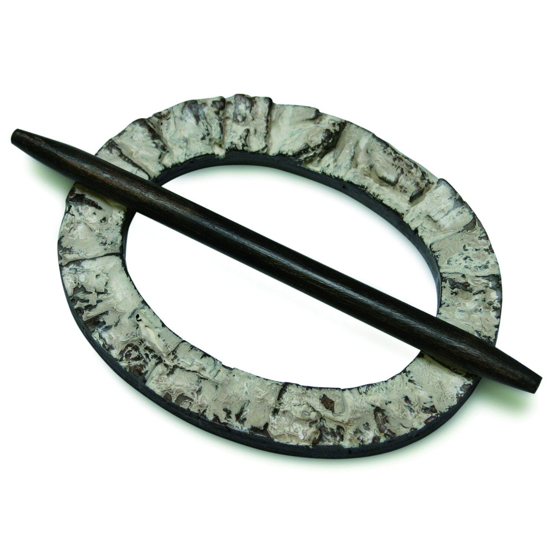 Gardinia Dekoring Oval Holz Wenge 12 cm x 9,5 cm