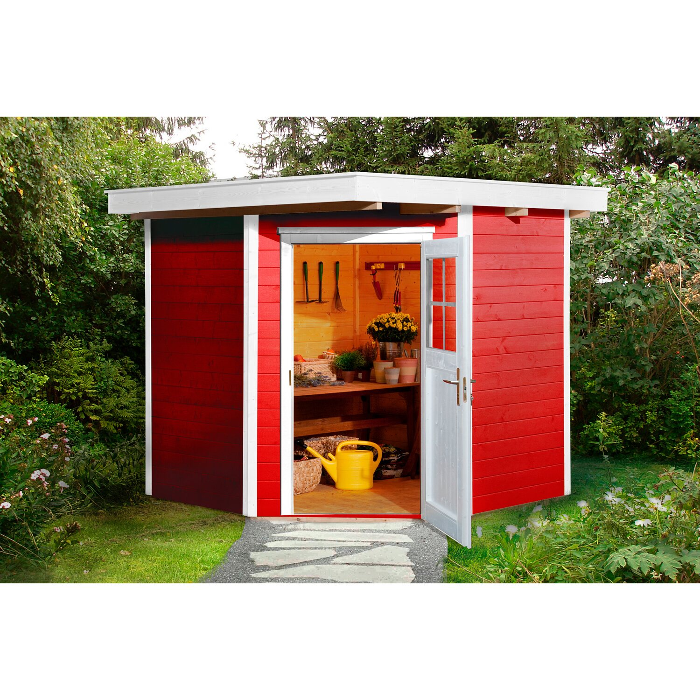 weka holz gartenhaus angolo schwedenrot a bxt 209 cm x 205 cm kaufen bei obi. Black Bedroom Furniture Sets. Home Design Ideas