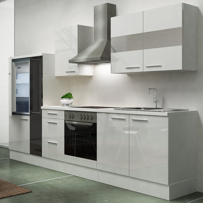 respekta k chenzeile pr300wwcapos 300 cm schwarz wei kaufen bei obi. Black Bedroom Furniture Sets. Home Design Ideas