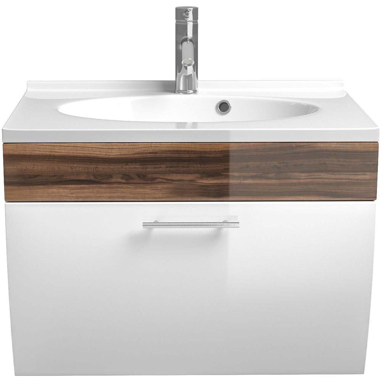 posseik waschplatz 70 cm salona walnuss wei kaufen bei obi. Black Bedroom Furniture Sets. Home Design Ideas