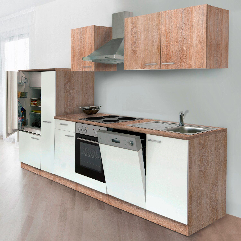 respekta k chenzeile kb310eswoes 310 cm wei eiche s gerau nachbildung kaufen bei obi. Black Bedroom Furniture Sets. Home Design Ideas