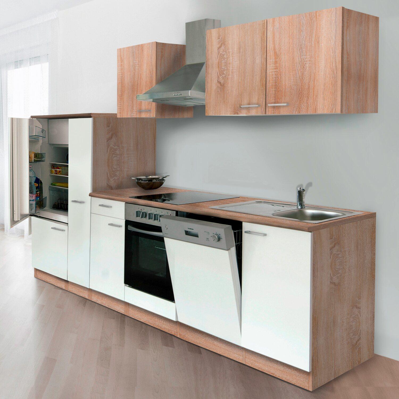 respekta k chenzeile kb310eswcoes 310 cm wei eiche s gerau nachbildung kaufen bei obi. Black Bedroom Furniture Sets. Home Design Ideas