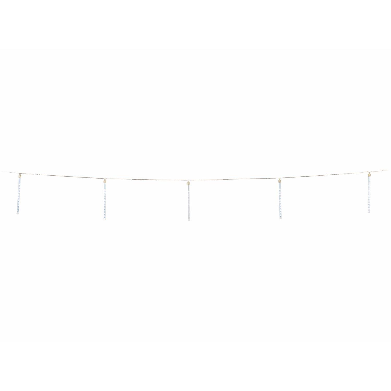 379412_2 Schöne Led Eiszapfen Lichterkette Mit Schneefall Effekt Dekorationen