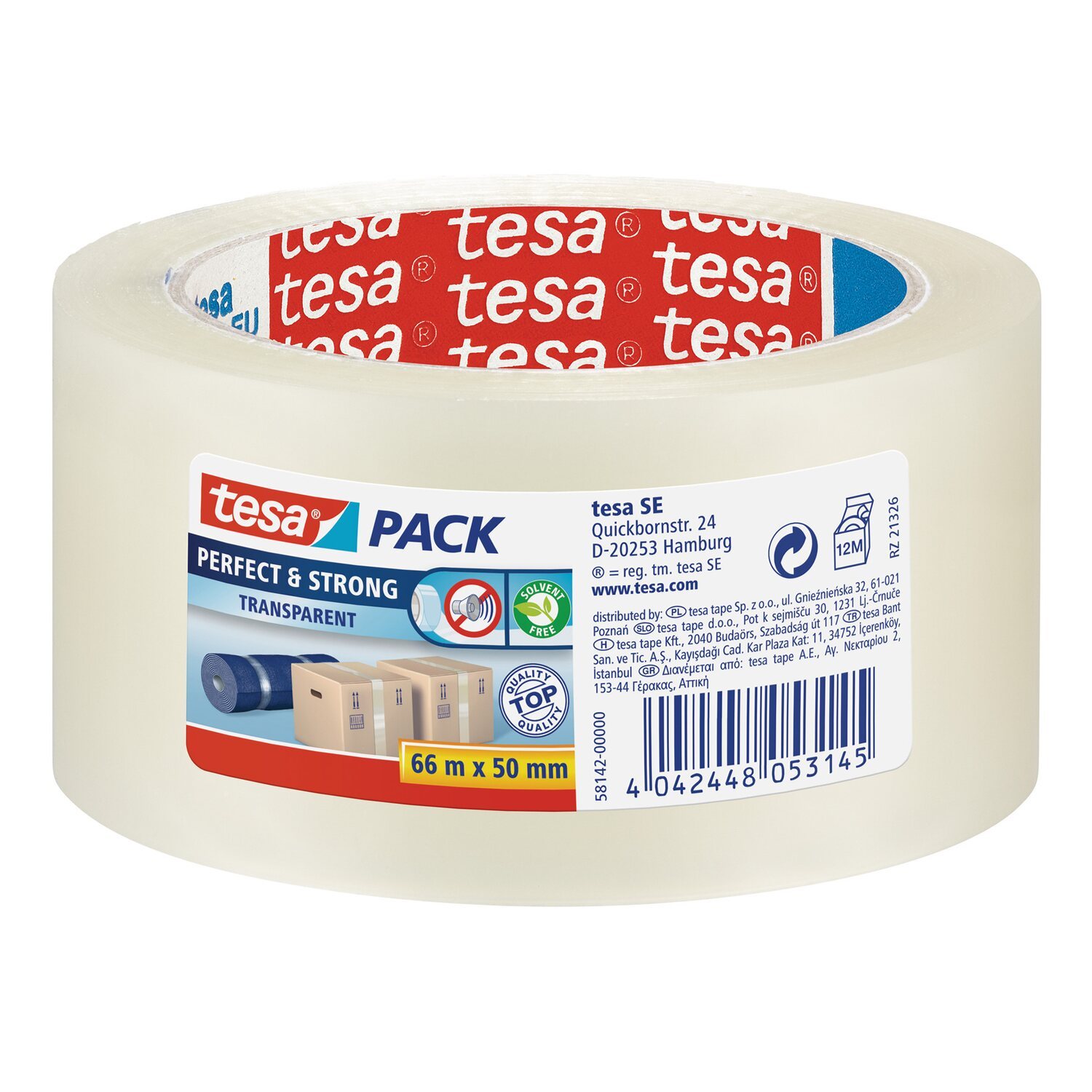 Tesa Pack Perfect & Strong Transparent 66 m x 50 mm