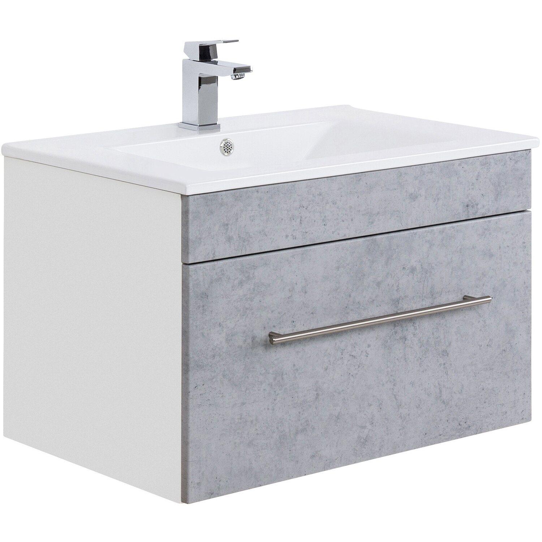 Waschbecken Mit Unterschrank Stehend.Posseik Waschplatz Viva 75 Cm Beton