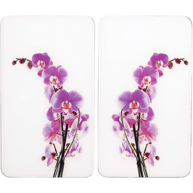Wenko Abdeckplatte Universal Orchideenblüte 2er-Set