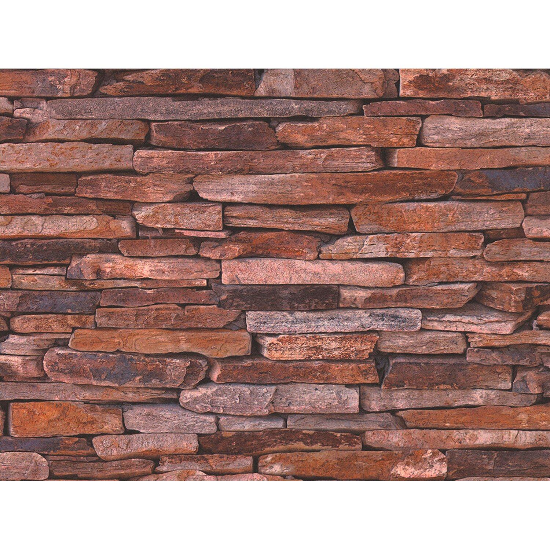 AS Creation A.S. Creation Vliestapete Steinmaueroptik Woodn Stone Bunt