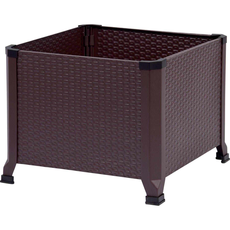 hochbeet 45 x 45 cm rattanlook metall kaufen bei obi. Black Bedroom Furniture Sets. Home Design Ideas