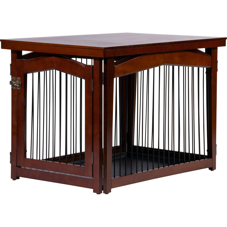 Hundebox Indoor mit Tischoberfläche Holz 115,15 x 115 x 115 cm Dunkelbraun