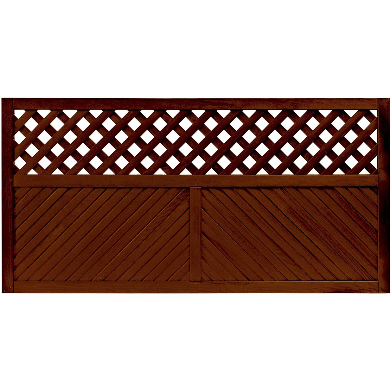 sichtschutzzaun element brest braun 90 cm x 180 cm kaufen bei obi. Black Bedroom Furniture Sets. Home Design Ideas